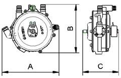 Редуктор LOVATO SUPER с вакуумной системой безопасности.  Может устанавливаться на карбюраторные двигатели мощностью...
